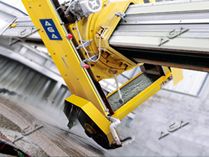 45 cut miter on stone bridge saw machine